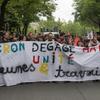 5月13日のマクロン政権反対デモ
