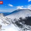 【上信越】黒斑山、蛇骨岳、噴煙挙げる白き浅間山を望む、冬の浅間外輪の旅