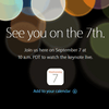 iPhone7発表9月7日に決定!スペシャルイベント「See you on the 7th.」開催