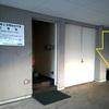 奈良第2法務総合庁舎の駐車場に設置された違法灰皿が撤去(2020年1月)