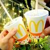 マクドナルドで炭酸飲料Sサイズもらえる。