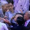 国技館でトランプ氏と握手した観客は「金美玲」。安倍首相のおもてなし。