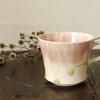ガラスのような色合いのマグカップ|藤内紗恵子