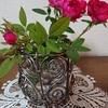 ワイヤーで花瓶入れをつくってみました