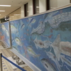 金沢駅もてなしドーム地下の思い出黒板アート第二弾は魚を食べたくなる
