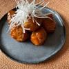 黒酢あん肉団子とオレンジサラダ