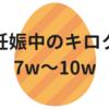 妊娠中のキロク【7w~10w】