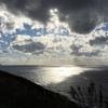 風が吹き荒ぶ竜飛岬「津軽海峡亭」