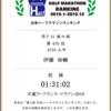 全日本ハーフマラソンランキングが公開されました