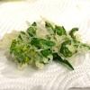 【白菜】とう立ち菜を天ぷらで食べてみる