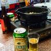 モツ鍋とエールビール!