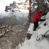 台高山脈・薊岳でアイゼン&ピッケル練習