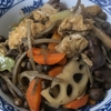 二日ぶりの家ご飯、今日のお昼は「鶏肝と野菜の炒め煮」で!