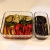 夏野菜の揚げ浸し&ぶり照り焼き