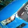 東京都足立区からご来店、アウディRS4の切削光輝ホイールのポリッシュ面とガンメタ部分のキズ修理も車に付けたままの当日リペア!