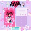 「CAKE PARTY animals」ラインきせかえリリース♡