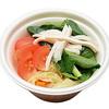 セブンイレブン「トマトと小松菜のスープ」にチーズ入れるのおすすめ!