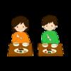 イラストACに給食を食べる子供たちなど4点追加!