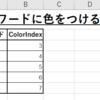 【Excel VBA】キーワードが含まれるセルにColorIndexの番号の色の塗りつぶしをするマクロ。