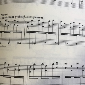 ドビュッシー練習曲。譜読みからゆっくり把握したい