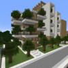 【Minecraft】緑のマンションを作る② 完成・内装編【コンパクトな街をつくるよ14】