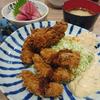 小田保でヒメコダイフライとマグロブツ定食
