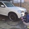 えいちんと洗車!