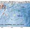 2017年08月16日 07時33分 房総半島南方沖でM3.0の地震
