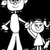 うりふたつな父と娘。