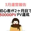 ブログ開設 2ヶ月目3万PV!前月比1800%になる為にやったこと