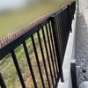 鳥の糞害対策☆フェンスにトゲトゲを設置しました