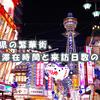 6府県の繁華街、平均滞在時間と来訪日数の変化
