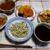 幸運な病のレシピ( 2462 )昼:揚げ物軍団(カツ、玉ねぎ、イモ、かき揚げ、舞茸)