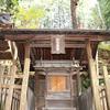 手長神社境内の松尾神社の御柱