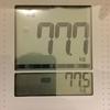 今日の測定(2018年12月9日(日)12:00)と「マッサージ+温泉」の効果検証
