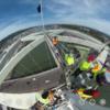 下見ると怖い!高さが100m以上あるアーチ橋の上から #360pic