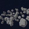 【Blender・Unity】カートゥーン調の小惑星群を作る