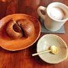 下高井戸のカフェウララカでランチの後はデザートタイム!12月のベーグル紅茶とオレンジピールと季節のドリンクヴァローナチョコレート入りのカフェモカの相性がとってもよかったです!