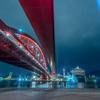 【神戸の夜景スポット】ポートアイランド北公園からの神戸の夜景と神戸大橋のライトアップ