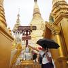ヤンゴン市内を観光。昼のシェダゴン・パゴダを訪問しました。夜のほうが面白いかも。【2016年7月ミャンマー旅行記10】