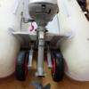 ゴムボート&2馬力で海釣り 用品&タックルVol.3 クランチングホイール取付&エアフロアの補強カバー