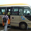 広州空港(飛行機からバスで空港内に移動)
