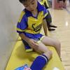九龍はサッカー教室で右足首の捻挫、母親は激しい胃痛で、我が家はパニック状態でした。
