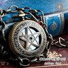 五芒星透かしの手巻き懐中時計