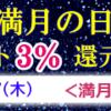 9/2(水)は満月の日でポイント3%還元デー