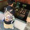 初めての七五三の装い。本人の袴はレンタルで、母親の私はママスーツを購入。