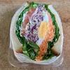 🚩外食日記(241)    宮崎ランチ       🆕「ながの屋  まなび野店」より、【食べづらいサンドイッチ(2個)】‼️