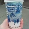 セカンドカップも冬の装い。