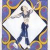 浅田真央ちゃんの「シェヘラザード」のイラストをかえてみました 〜アラベスク模様…風?〜