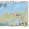 2016年10月10日 06時03分 鳥取県東部でM3.3の地震